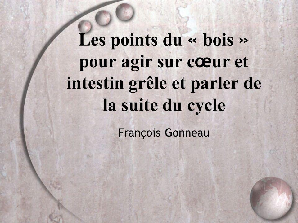 Les points du « bois » pour agir sur c œ ur et intestin grêle et parler de la suite du cycle François Gonneau