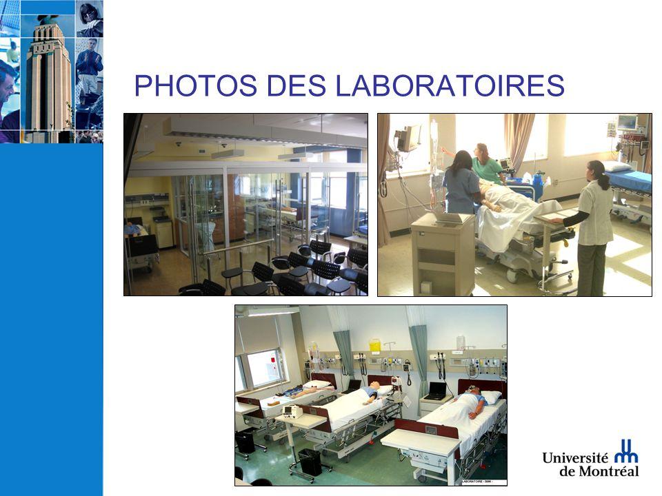 PHOTOS DES LABORATOIRES