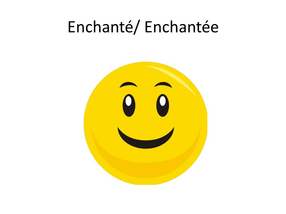 Enchanté/ Enchantée