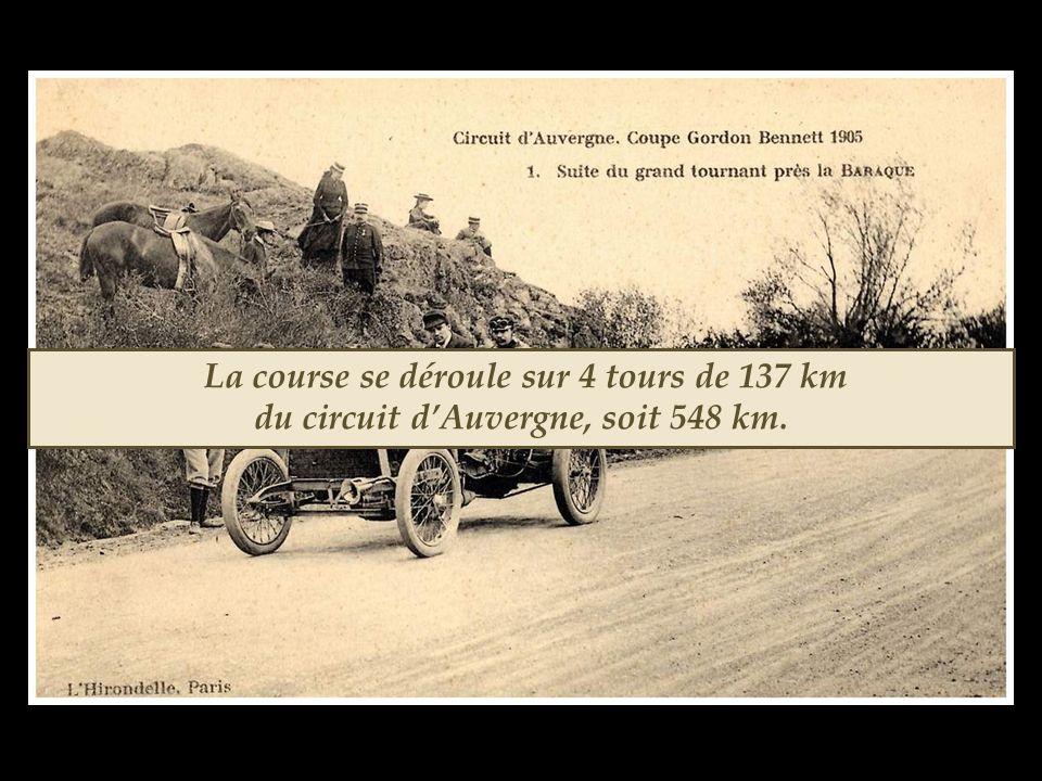 La course se déroule sur 4 tours de 137 km du circuit d'Auvergne, soit 548 km.