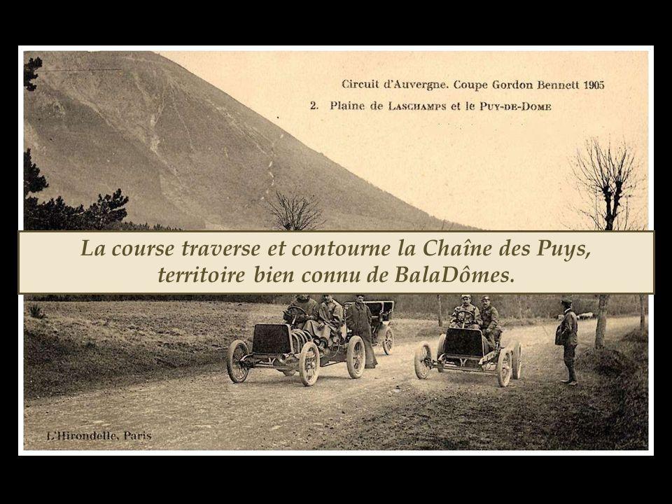 La sixième édition de la coupe Gordon Bennett se déroule en 1905 sur le circuit d'Auvergne proposé par Edouard et André Michelin.