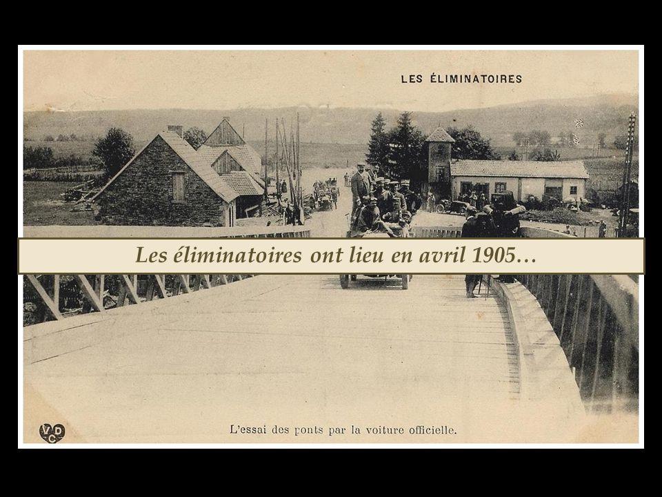 Les éliminatoires ont lieu en avril 1905…