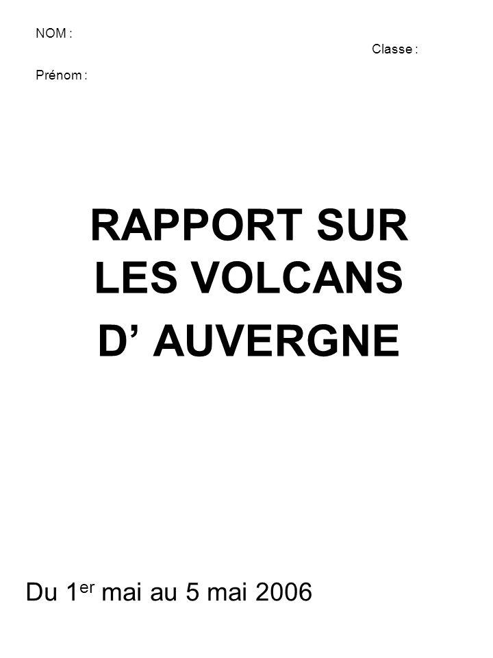SOMMAIRE •Introduction •Carte de France resituant les volcans d'Auvergne •Carte des volcans d'Auvergne •Les différents types de volcans en Auvergne •La différenciation magmatique •conclusion