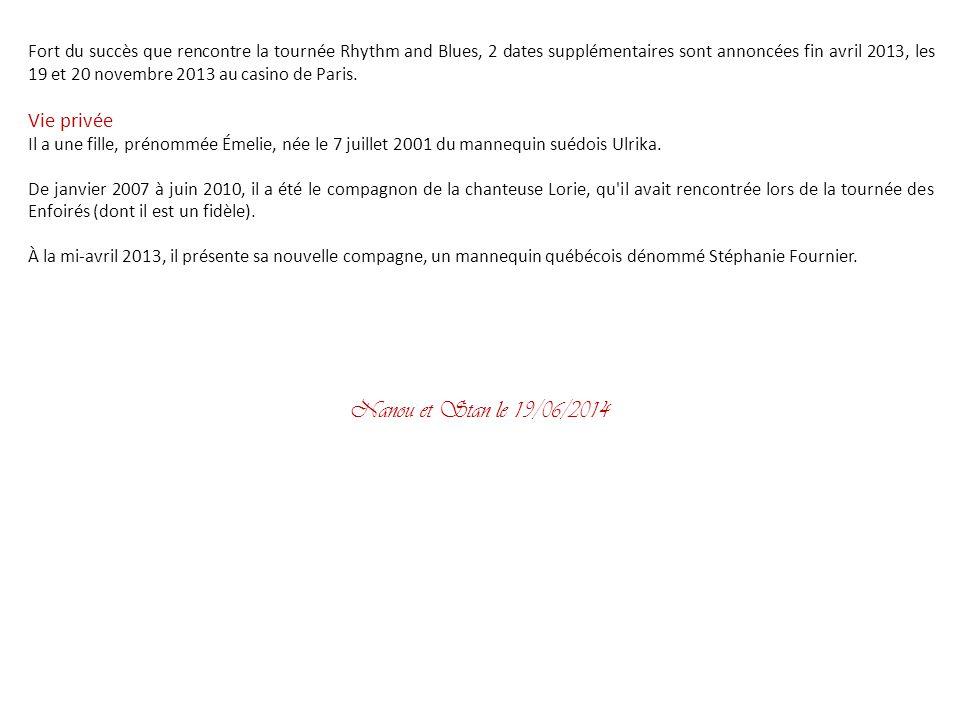 Album Rhythm and blues Le septième album studio de Garou sort le 24 septembre 2012. Il a été enregistré à Londres, avec les musiciens de Plan B. On y