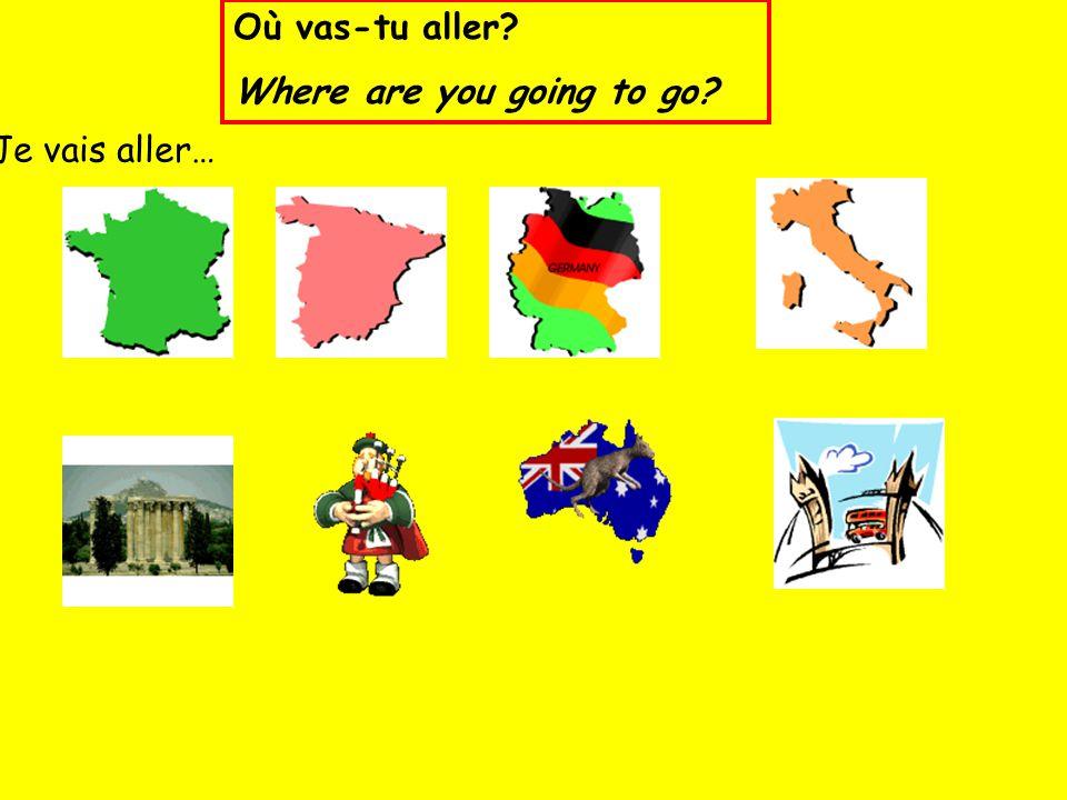 Je vais aller… Où vas-tu aller? Where are you going to go?