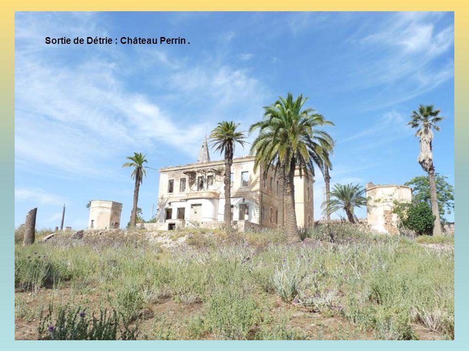 A la sortie de Détrie … Miracle … Le superbe Château Perrin, soit en ruine … Mais il tient toujours … debout …