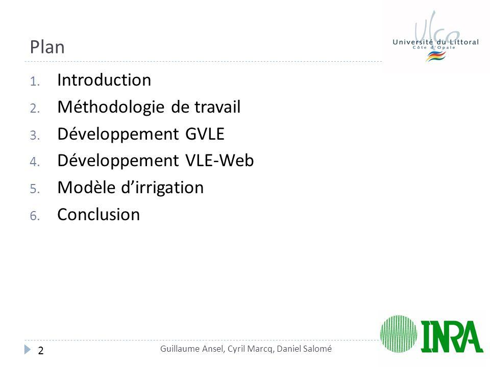 Plan 1.Introduction 2. Méthodologie de travail 3.