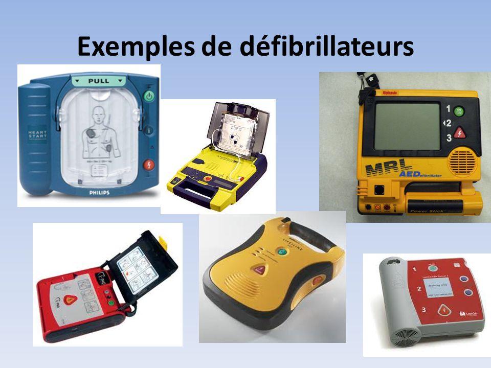 Exemples de défibrillateurs