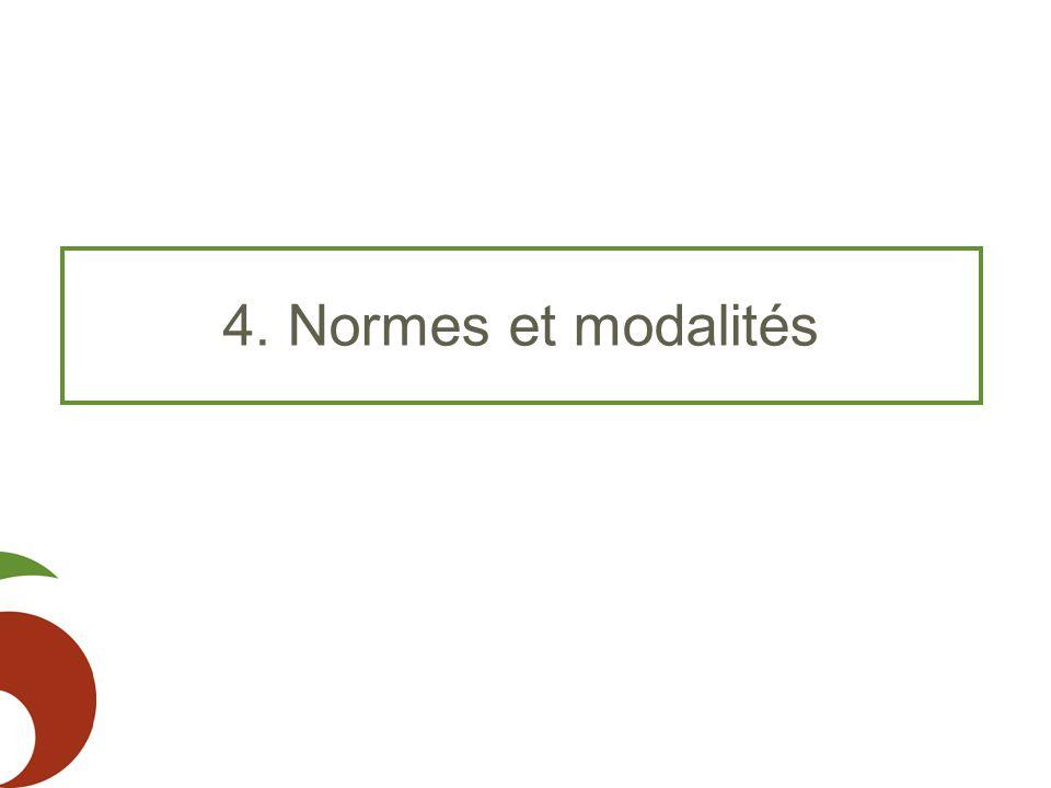 4. Normes et modalités
