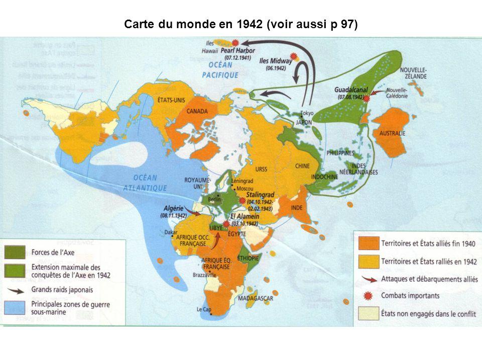 Carte du monde en 1942 (voir aussi p 97)