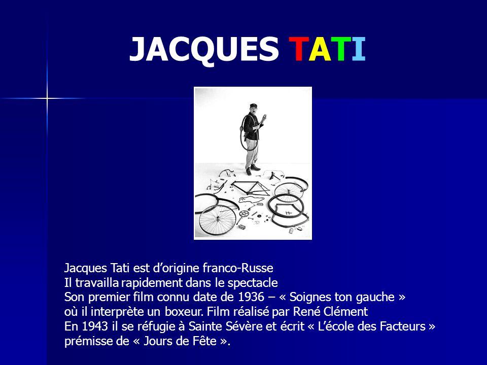 TRAFIC est le dernier « vrai » film de Jacques Tati, et où apparaît son personnage fétiche, Mr Hulot.