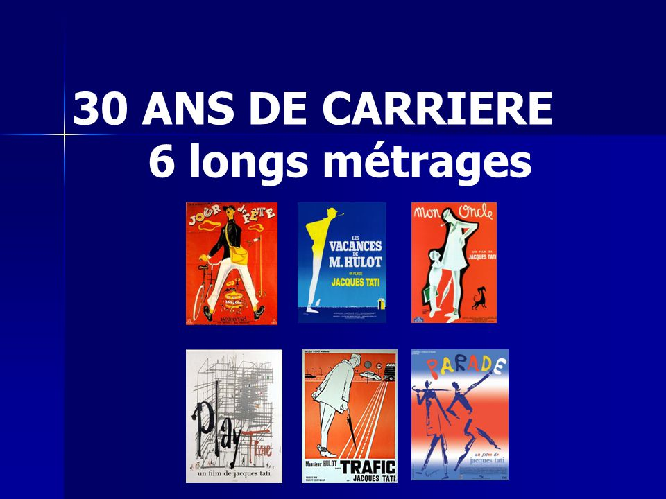 30 ANS DE CARRIERE 6 longs métrages