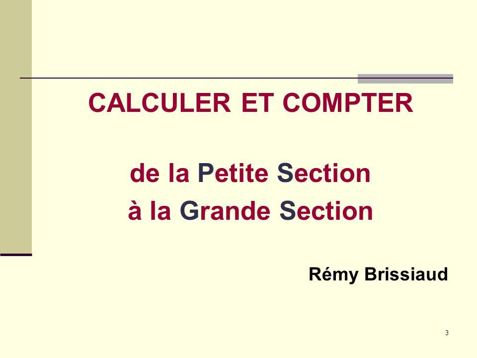 4 UNE OPPOSITION ANCIENNE : COMPTAGE ET CALCUL Depuis 1945 et jusqu'à la fin des années 1980, les pédagogues pensaient que toute leur attention devait aller directement à l'apprentissage du calcul.