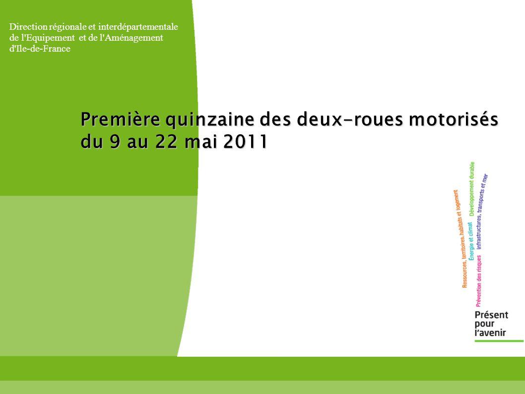Direction régionale et interdépartementale de l Equipement et de l Aménagement d Ile-de-France Première quinzaine des deux-roues motorisés du 9 au 22 mai 2011