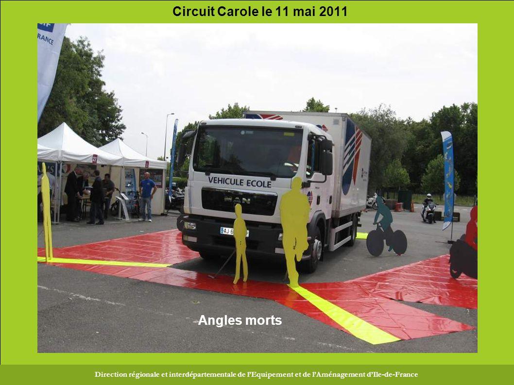 Direction Régionale et Interdépartementale de l Équipement et de l Aménagement d Ile-de-France Circuit Carole le 11 mai 2011 Direction régionale et interdépartementale de l'Equipement et de l'Aménagement d'Ile-de-France Angles morts
