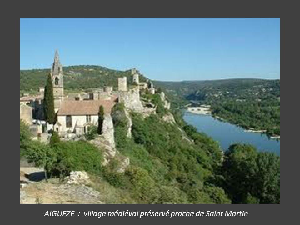 JAUJAC : à 15kms d' Aubenas, sur un ancien volcan, coulées basaltiques. 3 châteaux médiévaux aux environs. Pont romain et vestige de donjon.