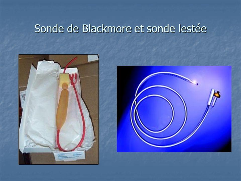 Sonde de Blackmore et sonde lestée
