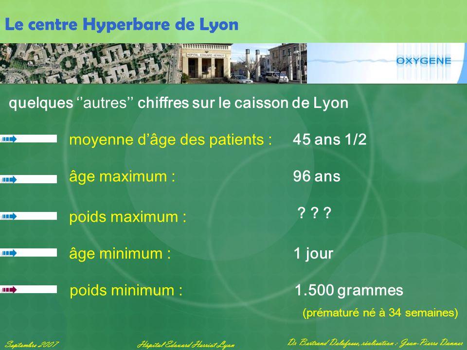 Dr Bertrand Delafosse, réalisation : Jean-Pierre Danner Septembre 2007Hôpital Edouard Herriot Lyon Le centre Hyperbare de Lyon quelques ''autres'' chi