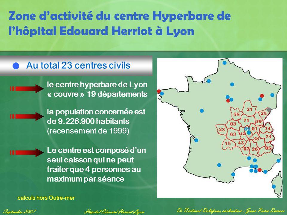 Dr Bertrand Delafosse, réalisation : Jean-Pierre Danner Septembre 2007Hôpital Edouard Herriot Lyon Zone d'activité du centre Hyperbare de l'hôpital Ed