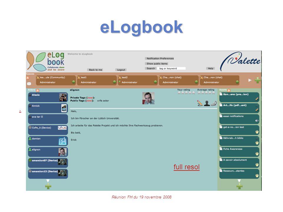 Réunion FH du 19 novembre 2008 eLogbook. full resol