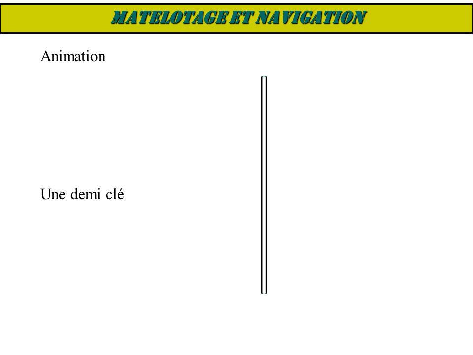 Une demi clé Animation MATELOTAGE ET NAVIGATION
