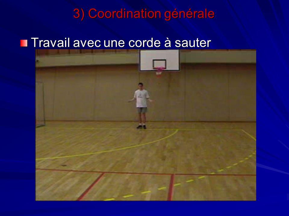 Travail avec une corde à sauter 3) Coordination générale