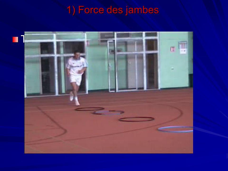 Travail de bondissements 1) Force des jambes