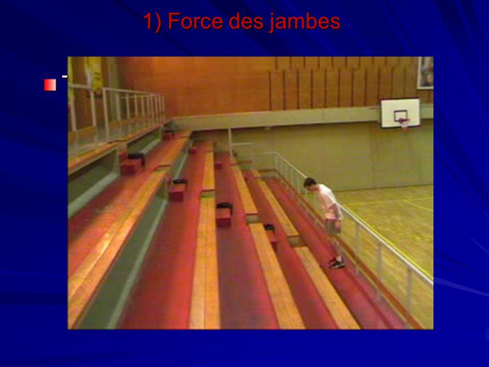 Travail dans les escaliers 1) Force des jambes