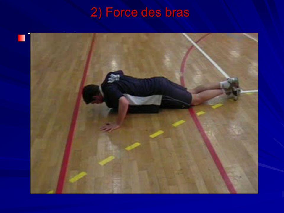 Travail de pompes 2) Force des bras