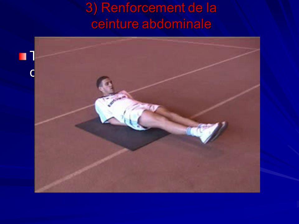 Travail d'abdominaux avec et sans charge 3) Renforcement de la ceinture abdominale