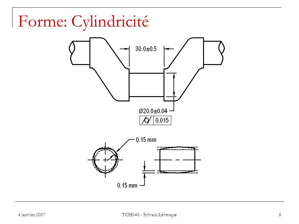 4 janvier 2007 TCH040 - Sylvain Lévesque 9 Profil d'une ligne