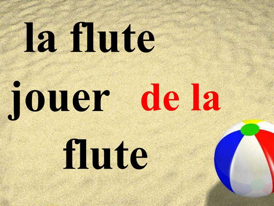 la flute jouer flute de la