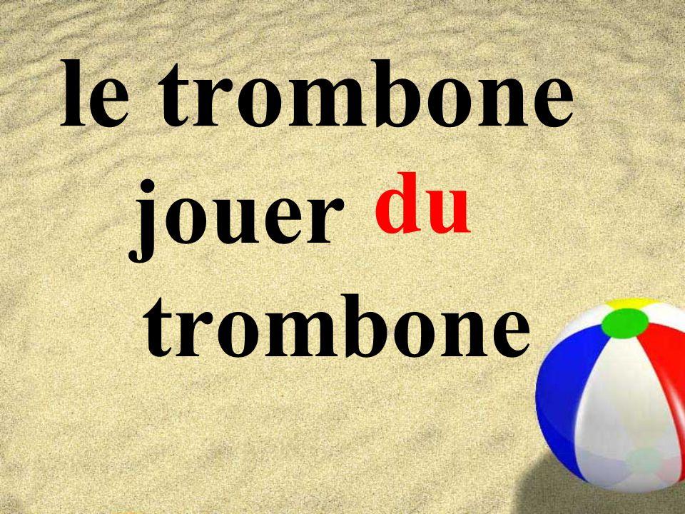 le trombone jouer trombone du