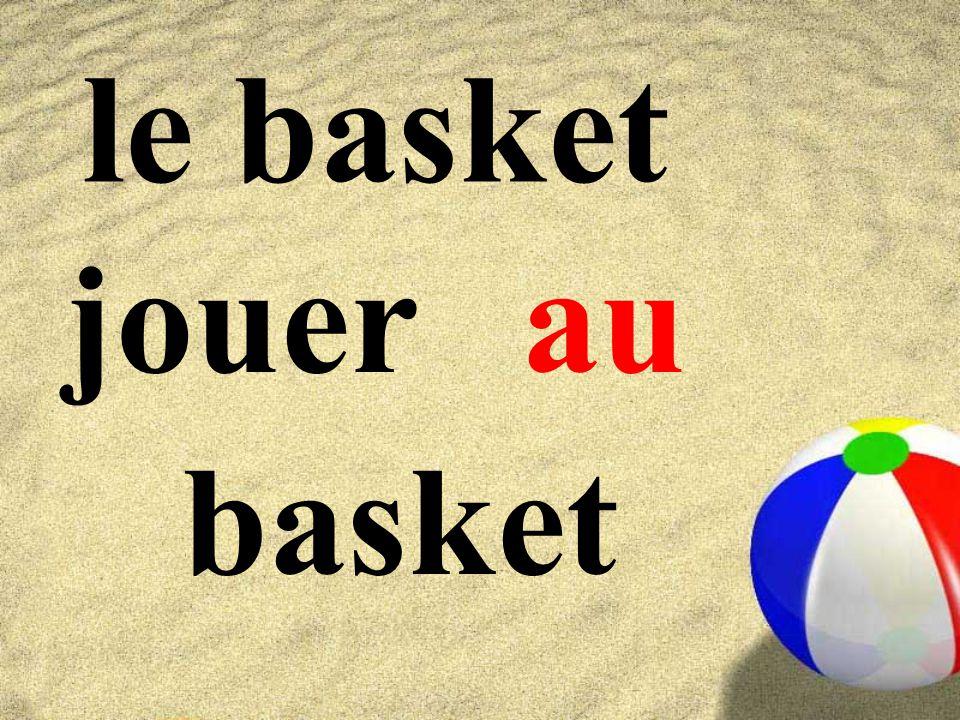 le basket jouer basket au