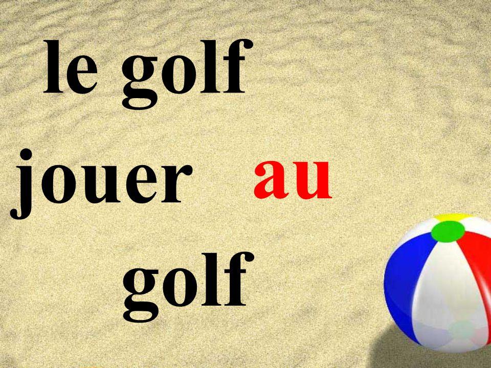 le golf jouer golf au