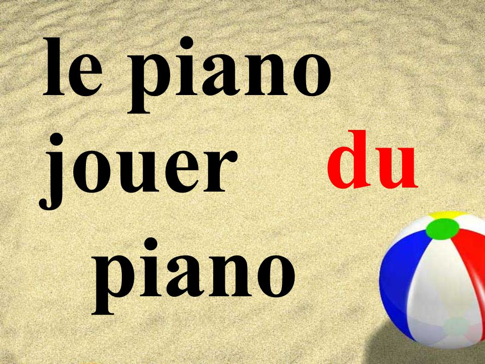 le piano jouer piano du