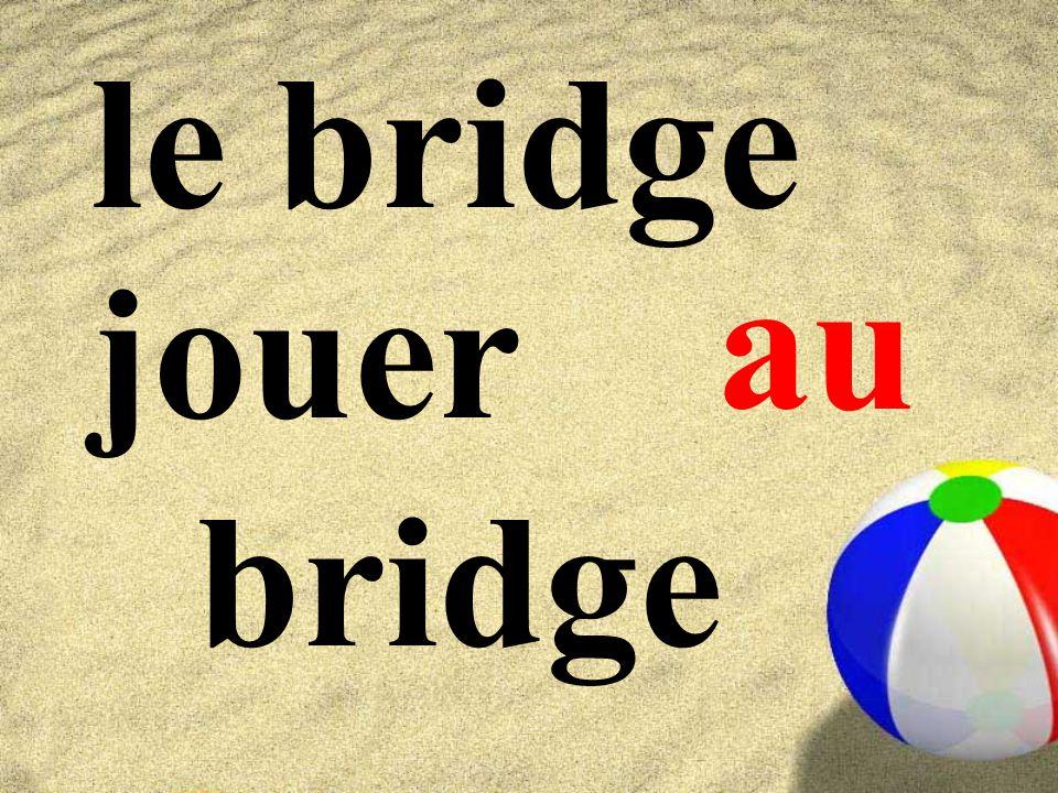 le bridge jouer bridge au
