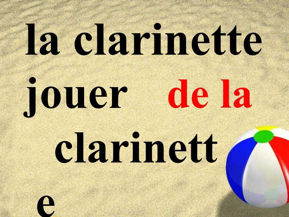 la clarinette jouer clarinett e de la