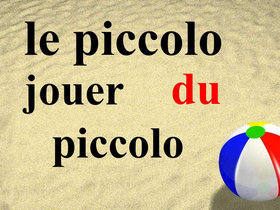 le piccolo jouer piccolo du