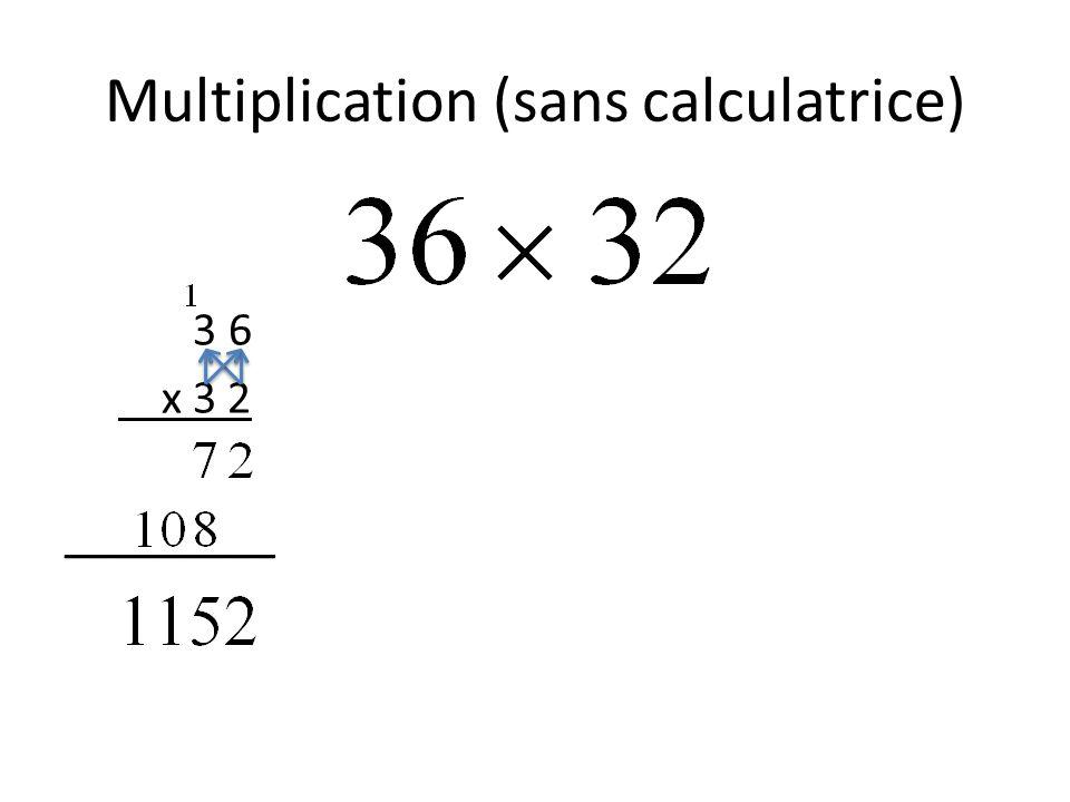Multiplication (des binômes): Méthode verticale (x + 6) x (x + 2) __________ Hmmm… est-ce que ça donne la même valeur qu'avant, si on substitue (x=30)?