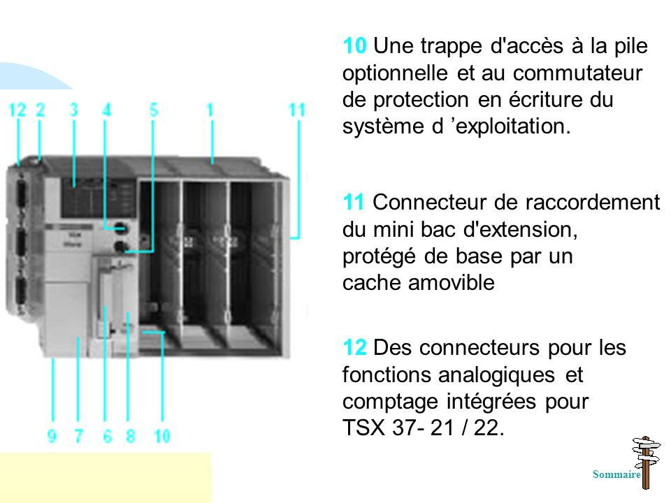 10 Une trappe d accès à la pile optionnelle et au commutateur de protection en écriture du système d 'exploitation.