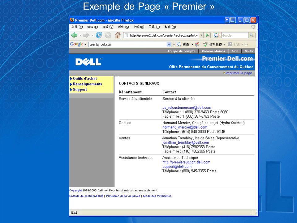 Exemple de Page « Premier »