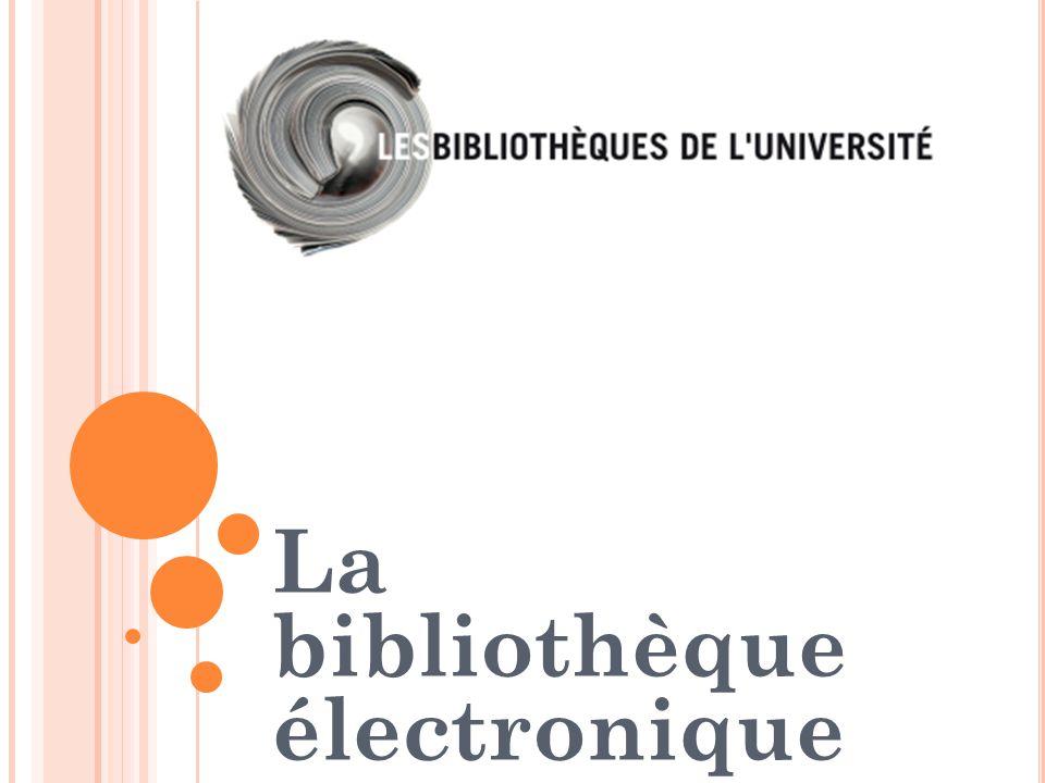 La bibliothèque électronique