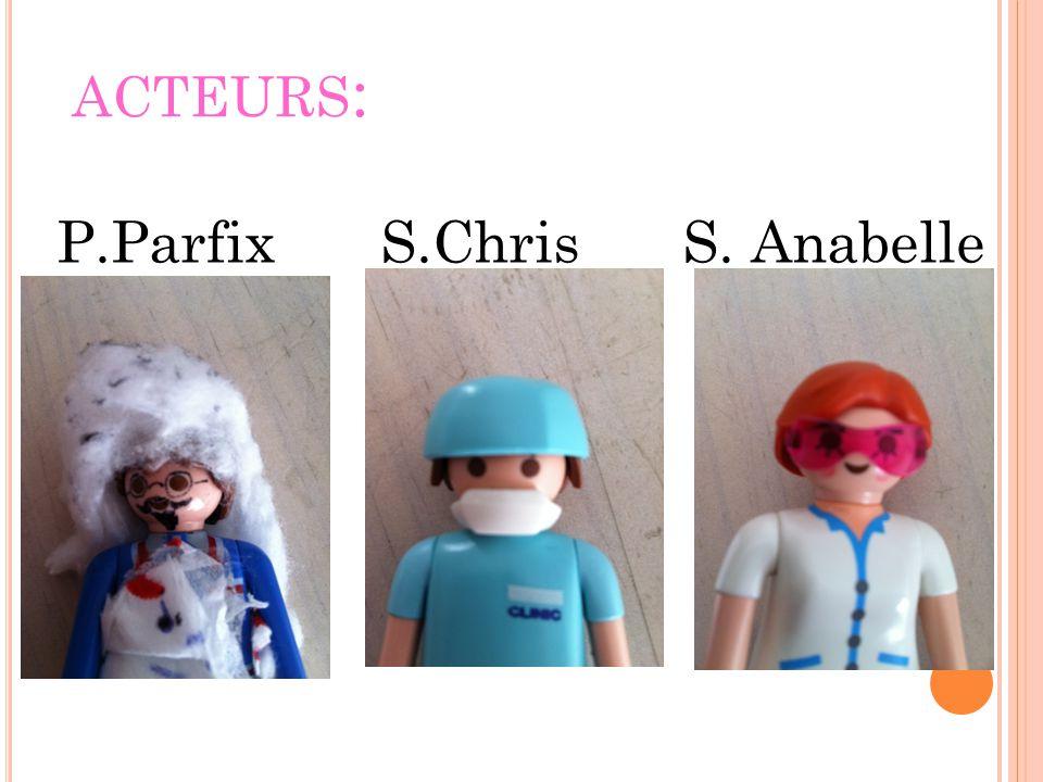 ACTEURS : P.Parfix S.Chris S. Anabelle S.Émilie