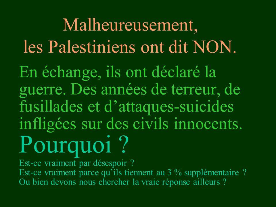 En échange, ils ont déclaré la guerre. Des années de terreur, de fusillades et d'attaques-suicides infligées sur des civils innocents. Pourquoi ? Est-