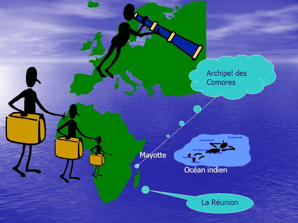 Océan indien Mayotte Archipel des Comores La Réunion