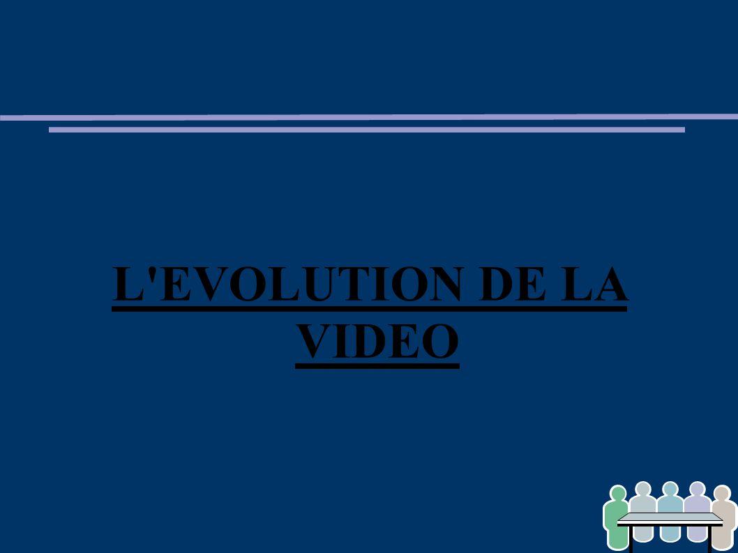 L'EVOLUTION DE LA VIDEO