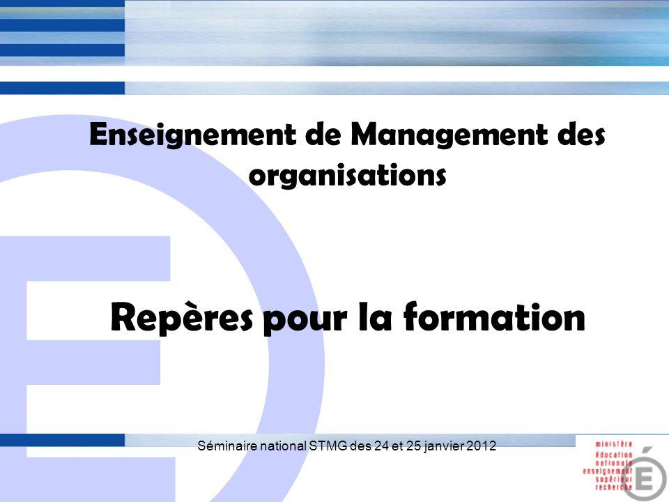 E 2 Thème 1 Le rôle du management dans la gestion des organisations