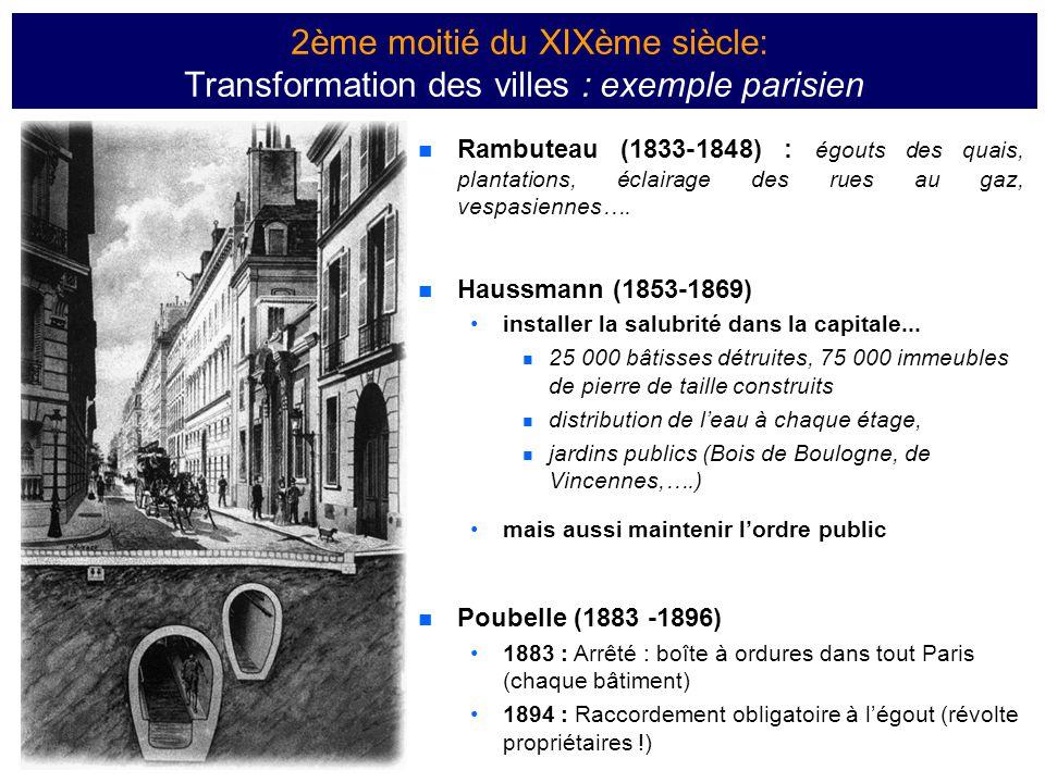  Rambuteau (1833-1848) : égouts des quais, plantations, éclairage des rues au gaz, vespasiennes….