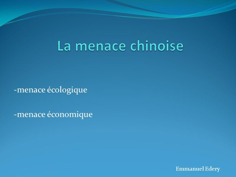 -menace écologique -menace économique Emmanuel Edery